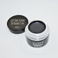 Gel Color Rainbow Nails Professional - 38 Metalic