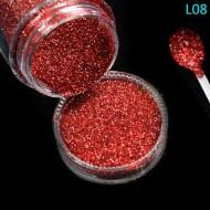 Glitter Red - L08