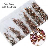 Cristale 6 marimi Rose Gold - AM6
