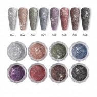 Super Shiny Glitter Pudra set 8 -EM8
