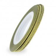 Banda Decorativa Glitter 1mm aurie