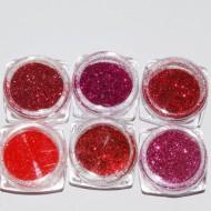 Glitter Rosu set 6 - EM6