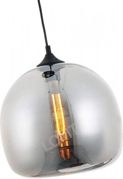 Corp de iluminat Pendul, Retro Vintage, Sticla fumurie gri, E27 - VINTAGE 224