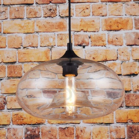Corp de iluminat Pendul, Retro Vintage, Sticla Transparenta, E27 - VINTAGE 225-B