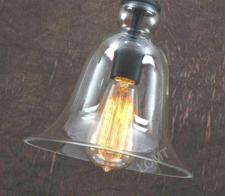 Corp de iluminat Pendul, Retro Vintage, Sticla Transparenta, Forma Clopot, E27 -VINTAGE 209