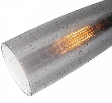 Corp de iluminat Pendul, Retro Vintage, Sticla gri cu efect de picaturi de ploaie, E27 - VINTAGE 248