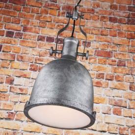 Corp de iluminat Pendul cu Lant, Retro Vintage Industrial, Metal Gri, Forma Clopot, E27 - VINTAGE 223-B