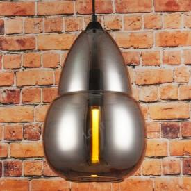 Corp de iluminat Pendul, Retro Vintage, Sticla fumurie gri, E27 - VINTAGE 242
