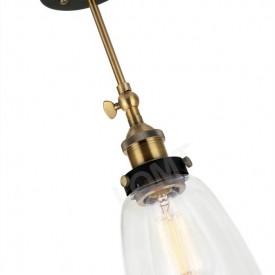 Corp de iluminat Aplica de Perete sau Pendul, Retro Vintage, Sticla Transparenta, Baza Metalica, E27- VINTAGE 212