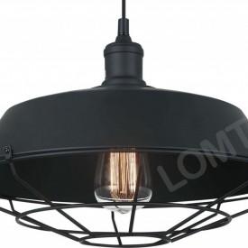 Corp de iluminat Pendul, Retro Vintage Industrial, Metal Negru cu Grilaj E27 - VINTAGE 219