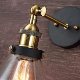 Corp de iluminat Aplica de Perete sau Pendul, Retro Vintage, Sticla Transparenta, Baza Metalica, -VINTAGE 205