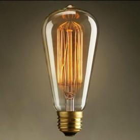 Bec Edison Vintage cu lumină caldă, dimabil (reglabil), Squirrel cage, 40W, E27
