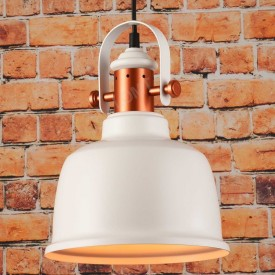 Corp de iluminat Pendul, Retro Vintage Industrial, Metal Alb, E27 - VINTAGE 245
