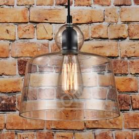 Corp de iluminat Pendul, Retro Vintage, Sticla transparenta, E27 - VINTAGE 230