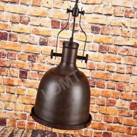 Corp de iluminat Pendul cu Lant, Retro Vintage Industrial, Metal Maro, Forma Clopot, E27- VINTAGE 223-A