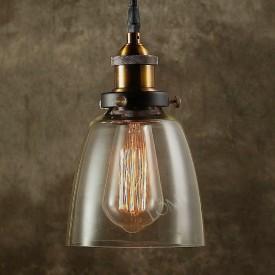 Corp de Iluminat Pendul, Retro Vintage, Sticla Transparenta, Baza Metalica, E27 - VINTAGE 192