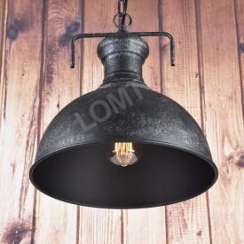 Corp de iluminat Pendul cu Lant, Retro Vintage Industrial, Metal Negru, E27- VINTAGE 221-B