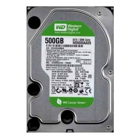 Slika HDD 500 GB WESTERN DIGITAL Green, WD5000AADS, 32MB, SATA 2 (fabricki reparirani diskovi)