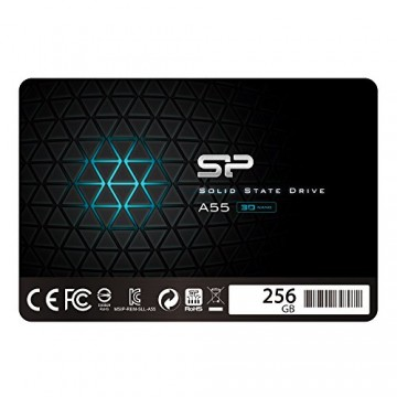 Slika SSD 256GB SILICON POWER A55, SP256GBSS3A55S25, 2.5″, 7mm, SATA 3, 550/450 MB/s