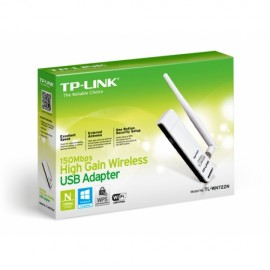 Slika Wireless USB Adapter TP-LINK TL-WN722N, USB 2.0, 4dBi, 802.11b/g/n, 150Mbps