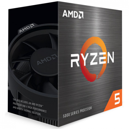 Slika CPU AMD Ryzen 5 5600X, 3.7GHz (4.2 GHz), 6C/12T, 32MB L3, 7nm, 65W, AMD Wraith Stealth cooler, Zen 3, AM4