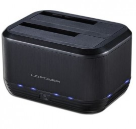 "Slika Dual bay HDD docking station LC POWER LC-DOCK-U3-III, USB 3.0 (za 2.5""/3.5"" HDD/SSD, Cloning backup storage)"