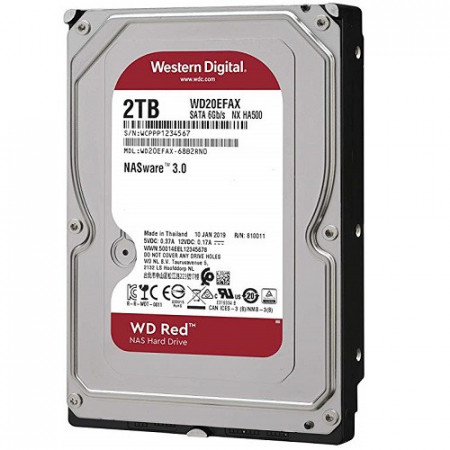 Slika HDD 2TB WESTERN DIGITAL RED, WD20EFAX, NAS, 256MB, SATA 3