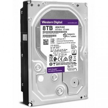 Slika HDD 8 TB WESTERN DIGITAL Purple WD81PURZ, 256MB, 5400 rpm, za video nadzor, SATA 3