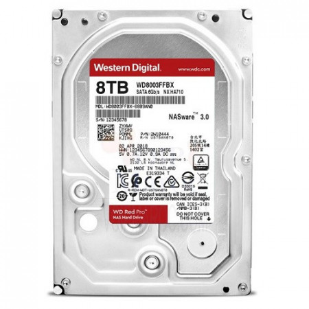 Slika HDD 8TB WESTERN DIGITAL Red Pro, WD8003FFBX, NAS, 7200 rpm, 256MB, SATA 3