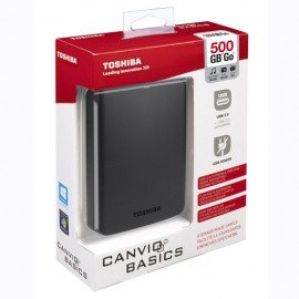 Slika HDD External 500GB TOSHIBA CANVIO BASICS, HDTB305EK3AA, USB 3.0, 2.5