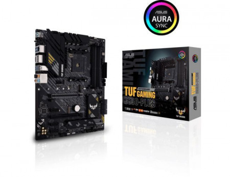 Slika MB ASUS TUF GAMING B550-PLUS, AM4, AMD B550, 4 x DIMM