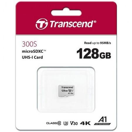 Slika Micro SD 128GB TRANSCEND 300S, TS128GUSD300S, UHS-I, U3, class 10, 95/45 MB/s