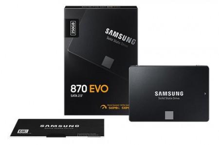"""Slika SSD 250GB SAMSUNG 870 EVO (MZ-77E250B/EU), 2.5"""" 560/530 MB/s"""
