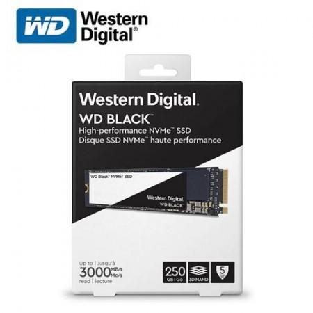 Slika SSD 250GB Western Digital Black, WDS250G3X0C, PCIe Gen3 x4, NVMe, M.2 2280, 3100/1600 MB/s