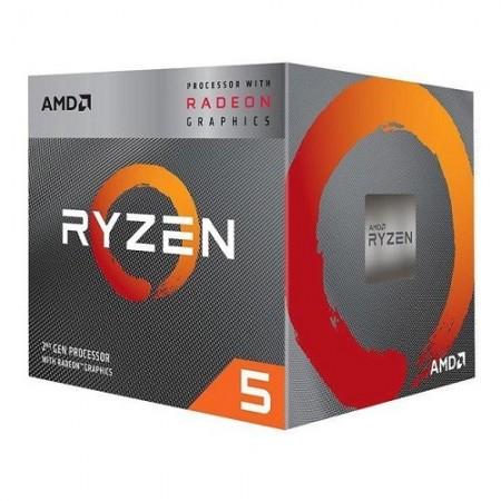 Slika CPU AMD Ryzen 5 PRO 3400G, 3.7GHz (4.2GHz), Radeon™ Vega 11, 4 cores, AM4, MPK