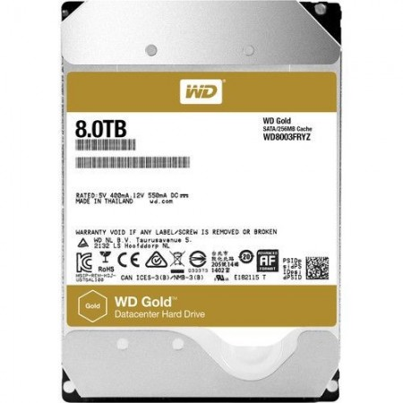 Slika HDD 8TB WESTERN DIGITAL Gold, WD8003FRYZ, 128MB, 7200 rpm, SATA 3