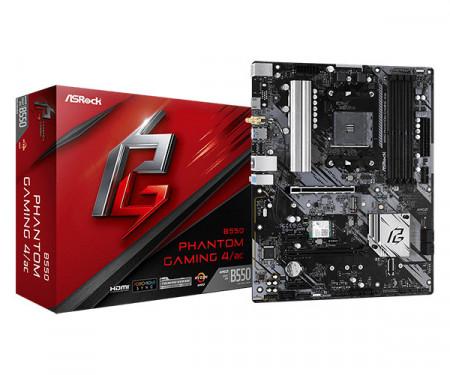 MB ASROCK B550 PHANTOM GAMING 4, AMD B550, 4 x DIMM, AM4
