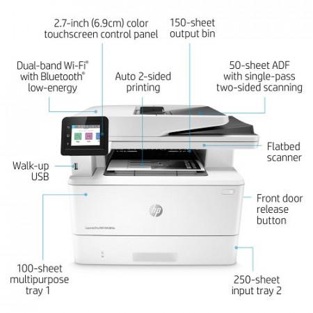 MFP HP Laserjet Pro M428dw, LAN, WiFi, duplex, ADF, A4, USB2.0 (W1A28A)