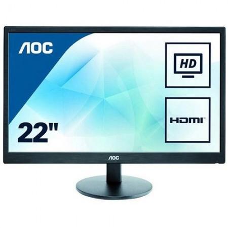 """Slika Monitor 21.5"""" AOC E2270SWHN, LED, 16:9, FHD, D-SUB, HDMI"""