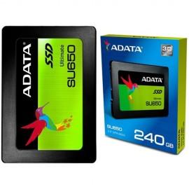 Slika SSD 240GB ADATA ASU650SS-240GT-C , 2.5″, 7mm, SATA 3, 520/450 MB/s