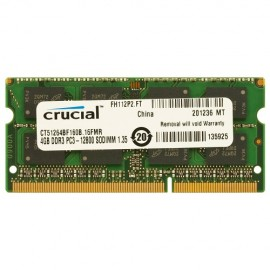 Slika 4 GB DDR3/1600 SO-DIMM, CRUCIAL CT51264BF160B, 1.35V, CL11