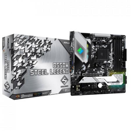 Slika MB ASROCK B550M STEEL LEGEND, AMD B550, 4 x DIMM, AM4