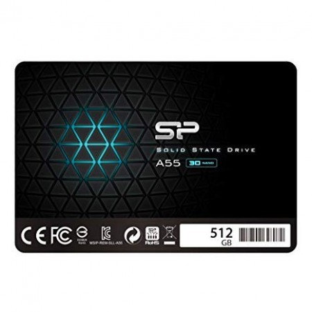 Slika SSD 512GB SILICON POWER A55, SP512GBSS3A55S25, 2.5″, 7mm, SATA 3, 550/530 MB/s