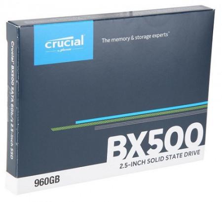 Slika SSD 960GB CRUCIAL BX500, CT960BX500SSD1, 3D NAND, 540/500 MB/s, SATA 3