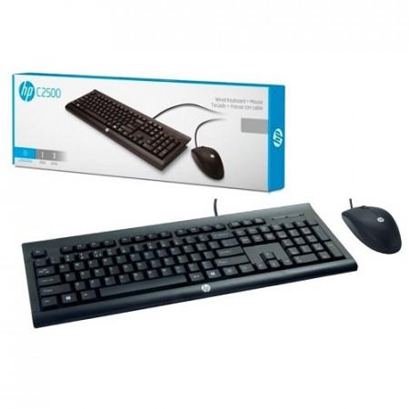 Slika Tastatura + mis HP C2500, corded, US, USB (H3C53AA)