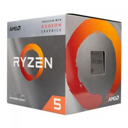 Slika CPU AMD Ryzen 5 3400G, 3.7GHz (4.2GHz), RX Vega 11, 4 cores, AM4, BOX