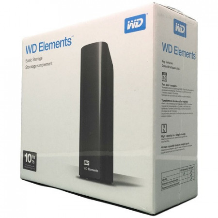 "Slika HDD External 10TB Western Digital Elements WDBWLG0100HBK-EESN, USB 3.0, 3.5"", black"