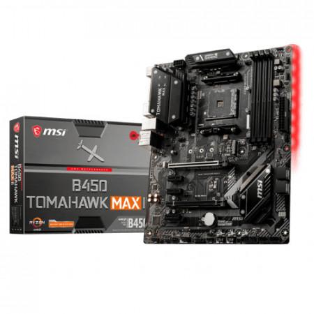 MB MSI B450 TOMAHAWK MAX II, AM4, AMD B450, 4 x DIMM