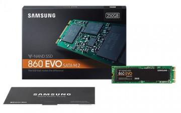 Slika SSD 250GB SAMSUNG 860 EVO (MZ-N6E250BW), M.2, 550/520 MB/s