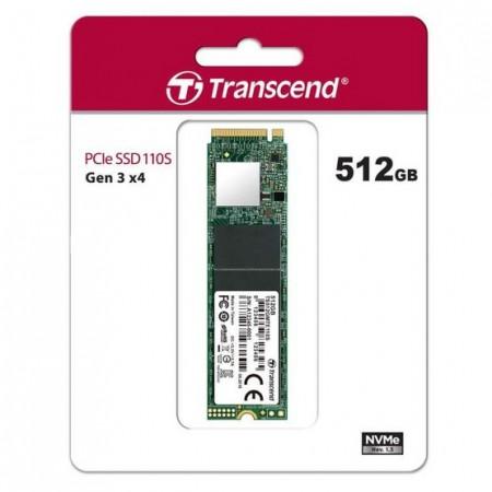 Slika SSD 512GB Transcend 110S, TS512GMTE110S, PCIe Gen3 x4, NVMe, M.2 2280, 1800/1500 MB/s